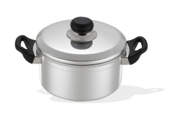 <strong>Pot With lid, Bakelite handles &amp; Stainless Steel frame guard</strong>